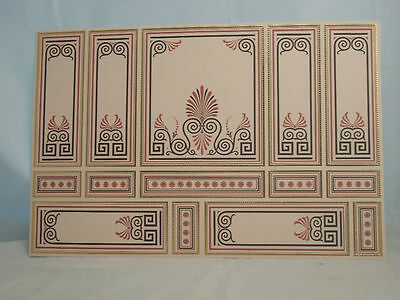 World /& Model Relief 34802 Wallpaper Panel dollhouse 1p  1//12 scale