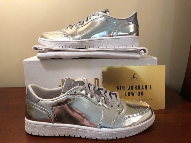 80125ef0059 Nike Air Jordan Retro 1 Low OG Pinnacle SZ 11 Metallic Silver PRM 852549-003