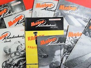 Zeitschrift-aussuchen-Motor-Rundschau-1951-1956-Z-gut-gebraucht