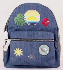 NEW RBCK-76 HURLEY SURFING STAR BLUE CRIMSON UNISEX SCHOOL BACKPACK BAG