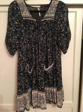 Free People Penny Lane Dress Size XS Navy Color Combo - Gorgeous - Coachella
