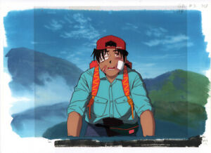 Golden-Boy-Anime-Cel-Douga-Animation-Art-Kintaro-on-Bike-Copy-BG-Lesson-2