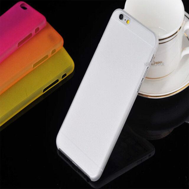 2X FUNDAS CARCASAS TPU APPLE IPHONE 6 4,7 TRANSPARENTE MATE ULTRA FINA 0,3mm