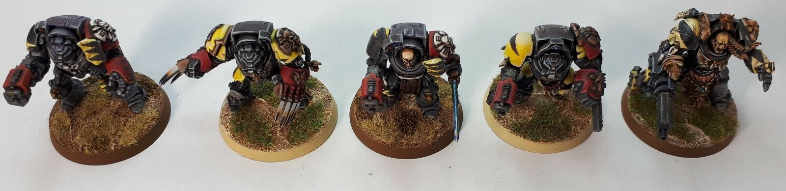 WARHAMMER 40K TERMINATOR SQUAD SPACE MARINES SPACE WOLF WOLFGUARD X 5
