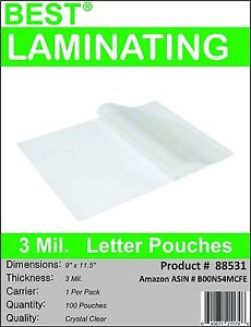 Best-3-Mil-Crystal-Clear-Letter-Size-Thermal-Laminating-Pouches-9X11-5-Qty-100