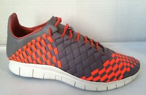 promo code 08591 48b9a Image is loading MENS-NIKE-FREE-INNEVA-WOVEN-TOTAL-CRIMSON-GREY-