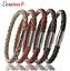 LOULEUR-100-Genuine-Braided-Magnetic-Leather-Bracelet-Men-Women-Stainless-Steel miniatura 1
