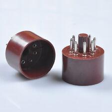 2pcs Red 8pin Tube Base K8A For KT88 6SN7 EL34 6L6 6550 Valve Amp Part