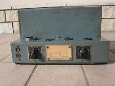 1 tube valve amplifier CINEMECCANICA made in Italy 6N7 6C5 5V4 Rare CINEMA AMP