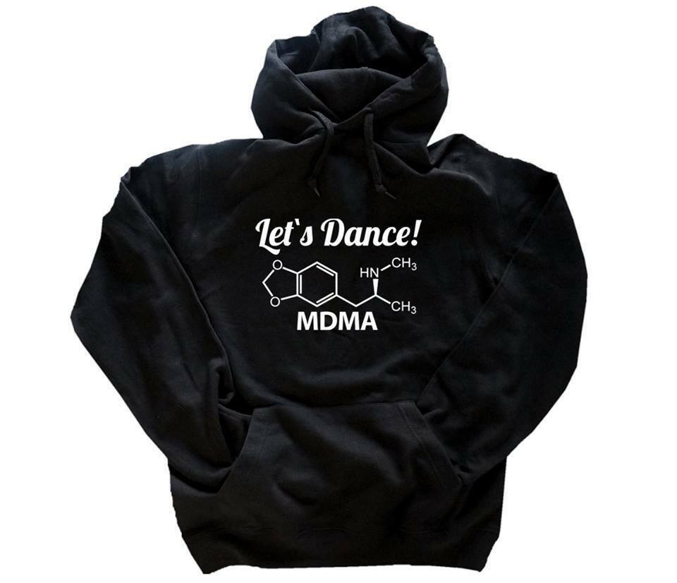 Chemical Molecules - Lets Dance - Ecstacy Mdma HOODIE SWEATSHIRT S-XXL