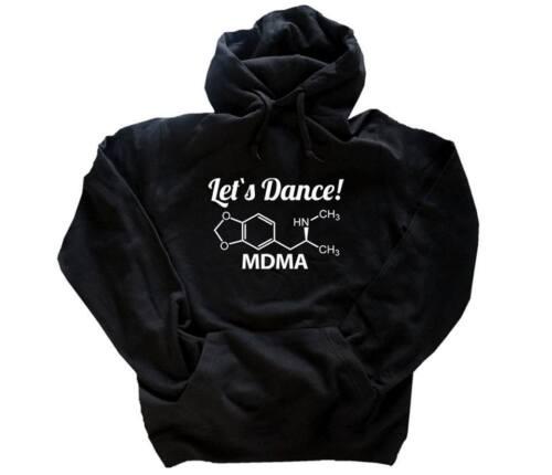 Chemical molekules-LETS DANCE-ecstasy MDMA con cappuccio-Sweat-Shirt S-XXL