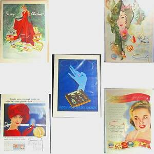 Details about Coty perfume, fragrance & makeup ads 5 magazine pgs 40's &  50's lot ᵁ U2