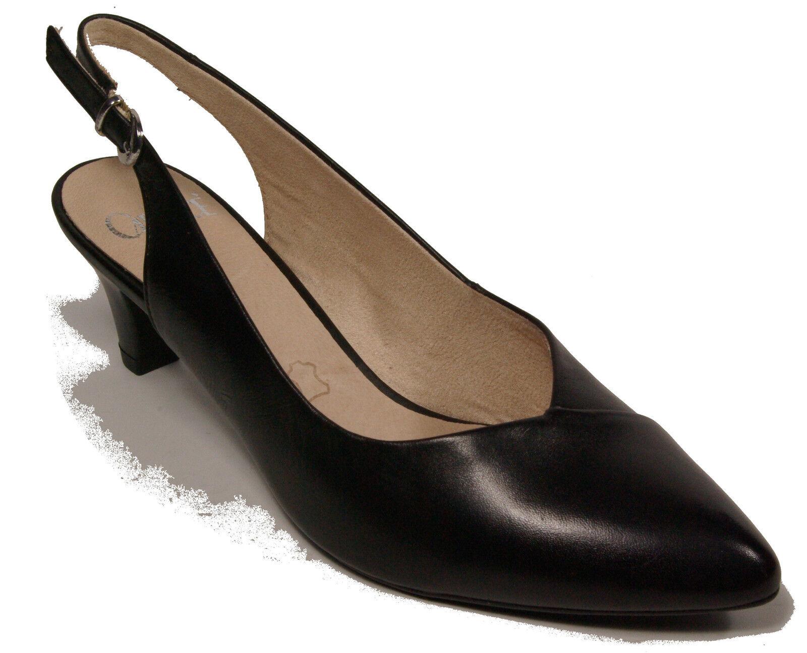 CAPRICE Schuhe Sling Pumps Schwarz echt Leder - laufen auf Luft - NEU
