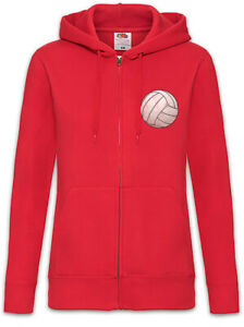 Volleyball-I-Damen-Zipper-Hoodie-Player-Love-Ball-Field-Spieler-Volleyballer
