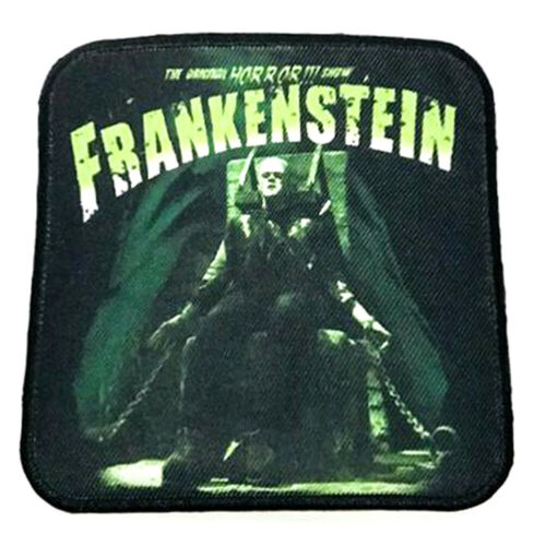 Authentic UNIVERSAL Frankenstein Electric Chair Sew On Glue On Patch NEW