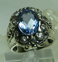Shopnbc Gem Insider Sterling Silver Oval Alexanite Ring W/white Topaz Ring Sz 10