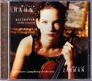 Hilary-HAHN-BEETHOVEN-Violin-Concerto-BERNSTEIN-Serenade-DAVID-ZINMAN-CD