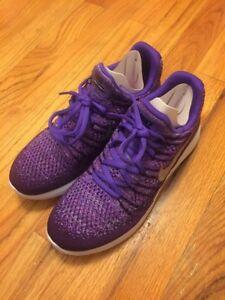 684037ed84451 New Nike Lunarepic Low Flyknit 2 (GS) Size 6.5Y Night Purple Silver ...