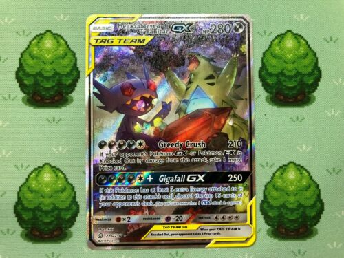 226//236 Mega Sableye /& Tyranitar GX SM Unified Minds Pokemon Full Art