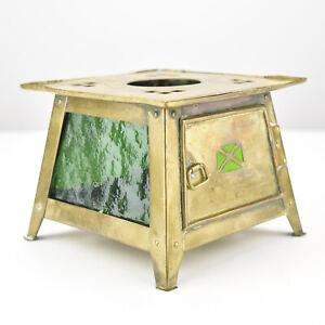 Art Nouveau Brass Teapot Warmer Jan Eisenloeffel Attr Secessionist Arts Crafts Ebay