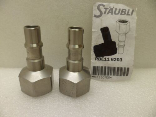 "STAUBLI RBE11 6203 QUICK RELEASE NIPPLE 1//2/"" NPT FM LOT OF 2 NOS"