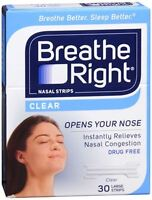 Breathe Right Nasal Strips Clear Large 30 Each (pack Of 9) on sale