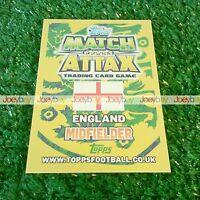 2014 ENGLAND WORLD CUP MAN OF THE MATCH STAR PLAYER CARD 14 MATCH ATTAX