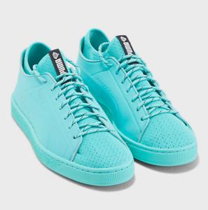 buy popular 344bb d9188 Details about Puma x Diamond Men Basket Sock Lo Sneakers - Tiffany Diamond  Blue Mint SALE