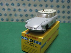 Vintage-CITROEN-ID-19-Break-Ambulance-Superbe-Mint-Dinky-Toys-556