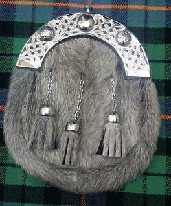 MEN/'S Écossais Noir Kilt Dress Sporran celtique troussequin Sporran