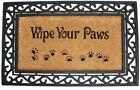 Home Heavy Floor Coir Rubber Doormat Outdoor Welcome Dog Black Mat Non Slip New