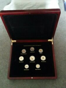 LONDON MINT CHANGING FACE OF BRITAINS COINAGE 24 CARAT GOLD COINS COMPLETE SET