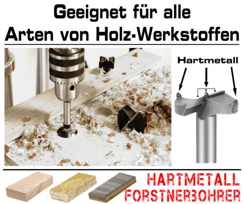Hartmetall Forstnerbohrer Kunstbohrer Topf Scharnier Bohrer Holz Fräser Ø 30 mm