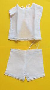 sous vêtements pour poupon  ancien d'environ   40/45  cm
