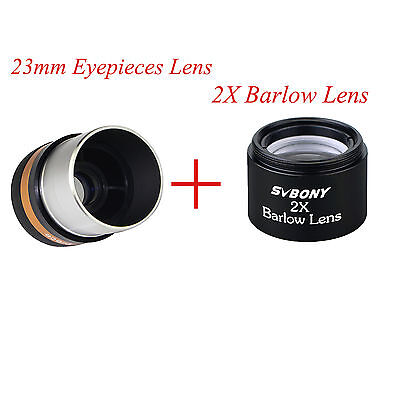 2X Barlow Lens 1.25//31.7mm Multi-Coated for Telescope Eyepiece Astronomy
