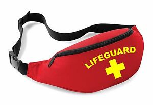 0ed5e384 LIFEGUARD Belt Bag - Red Funny Printed Fancy Dress Beach Costume Bum ...