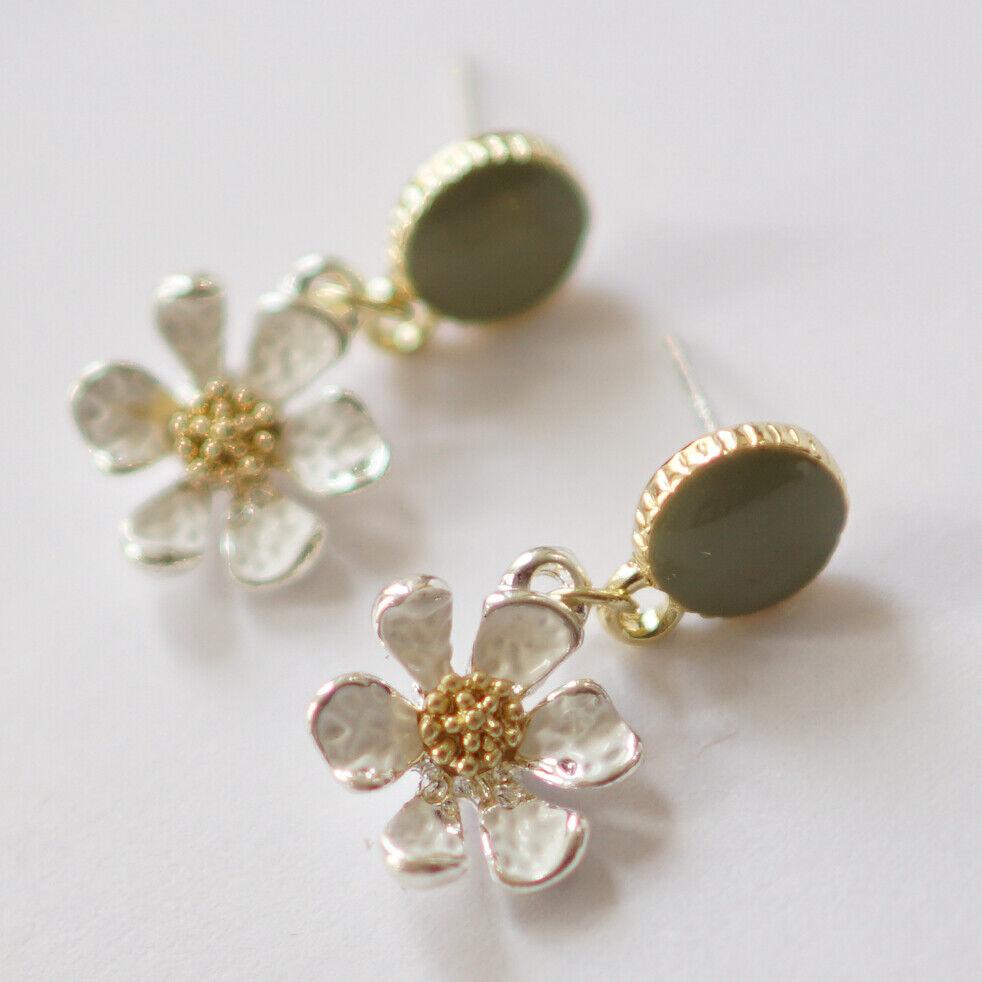 Blumen Kamille Ohrringe S925 Silber | eBay