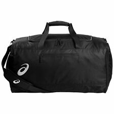 24688d29536c Asics Core Black Shoulder Duffle Bag Classic Sports Holdall Large