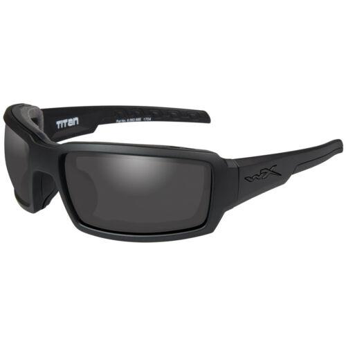 Wiley X WX Titan Sport Tactical Sunglasses Smoke Grey Lens Matte Black Frame