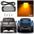 1x Ultra Slim 12-LED Car Truck Surface Mount Amber Flashing Strobe Warning Light