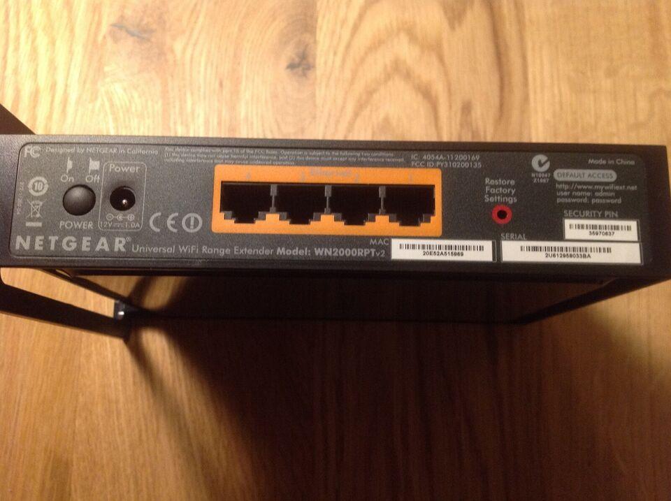 Repeater, wireless, Netgear