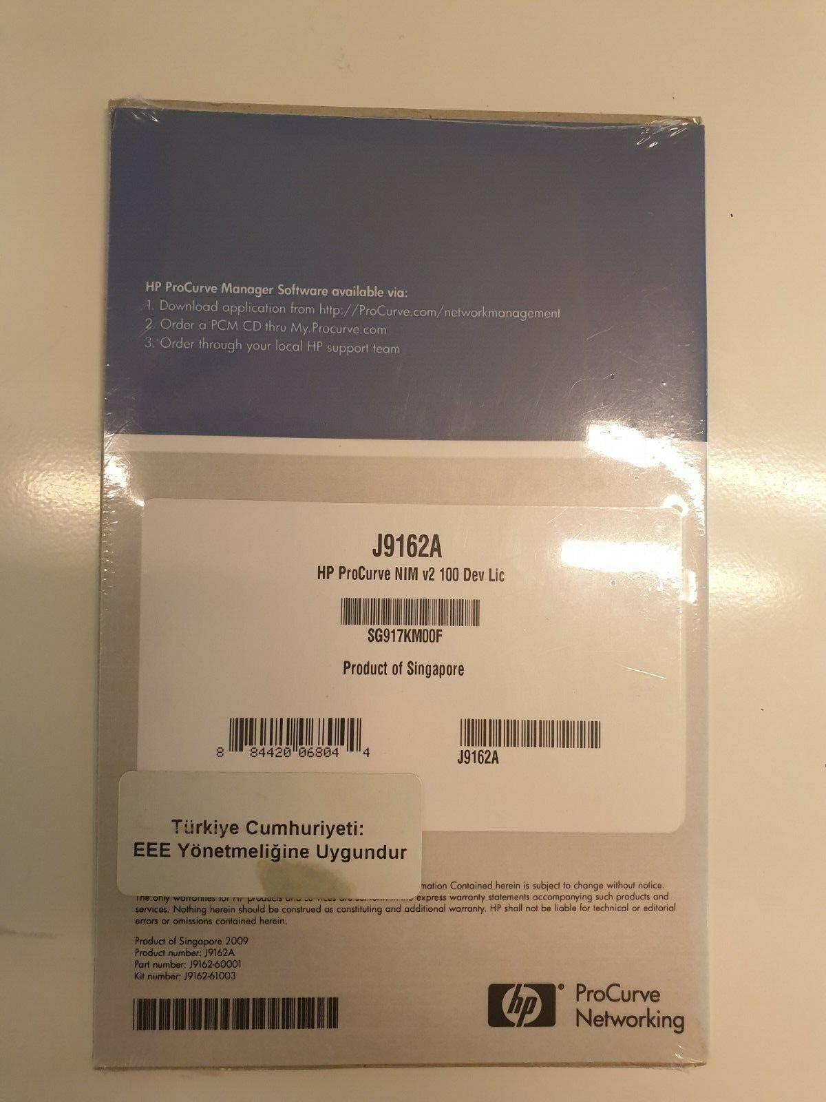 HP ProCurve Network Immunity Manager (NIM) v2 100-Device License J9162A