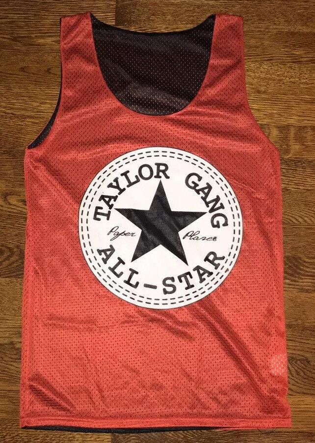 Rare Wiz Khalifa Small Red Taylor Gang All-star Basketball Jersey Made In USA