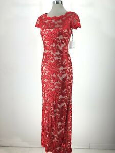 8d419badf52 Calvin Klein NWT Elegant Cocktail Dress FIRE RED Sequined Lace ...