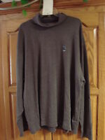 NEW MENS ST JOHNS BAY BROWN HOT COFFEE LONG SLEEVE TURTLENECK SHIRT SIZE X-LARGE