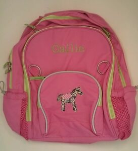 Pottery Barn Kids Fairfax Backpack Large Pink Horse Patch