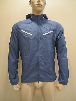 Activewear Nwt Nike Cyclone Men's Lightweight Running Jacket L Xl 519734 Navy Blue/purple