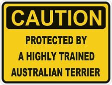 Dog Breed Australian Terrier Caution Sticker Pet for Bumper Car Locker Door