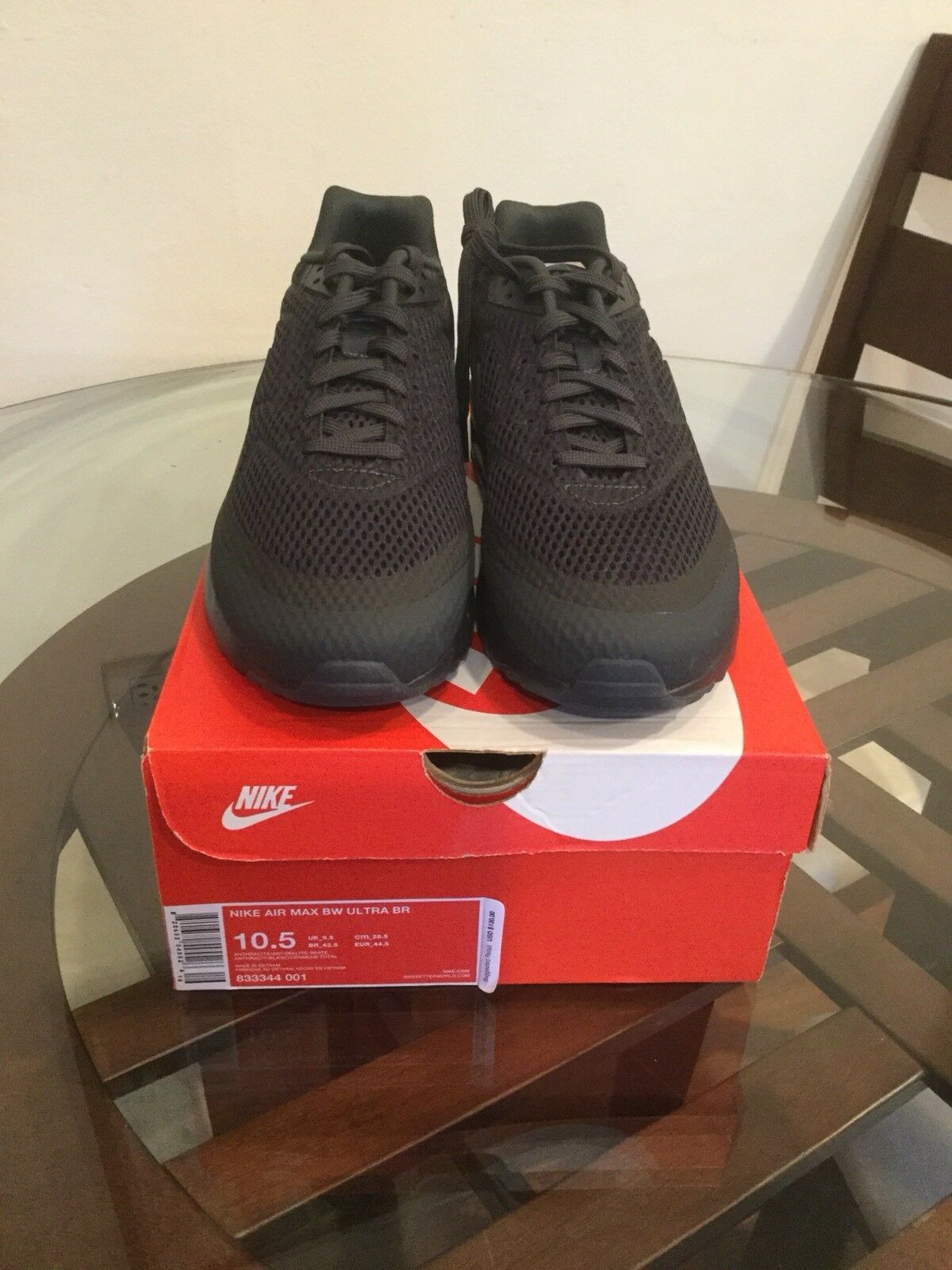 Nike Air Max BW Black Ultra BR Breathe Anthracite Triple Black BW 833344-001 Size 10.5 d4cc96