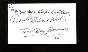 Richard Wood Signed Index Card 3x5 Autographed CFHOF USC Trojans Bucs 19573